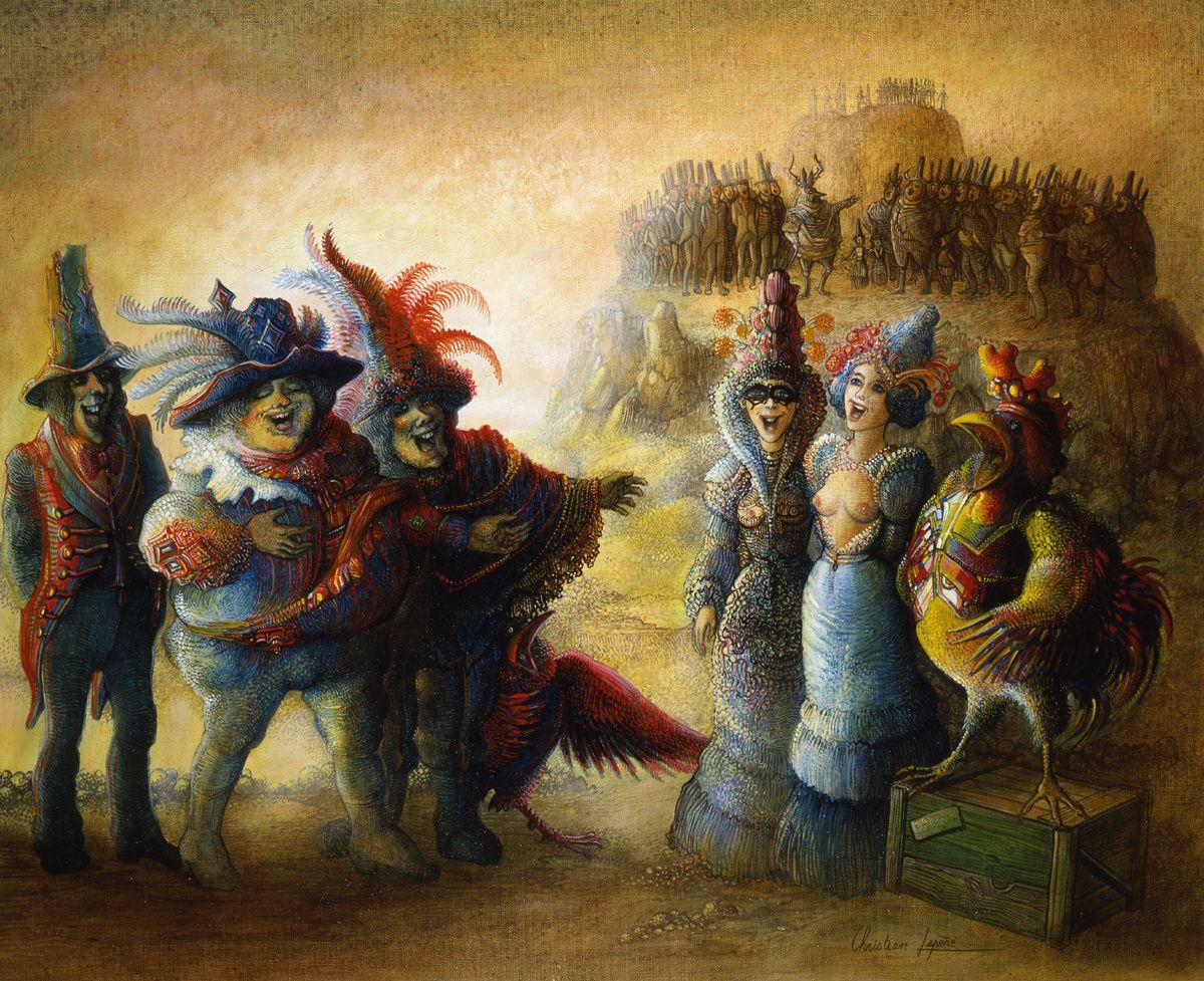 """""""Opéra comique"""" - huile sur toile - 46 x 38 cm - 1990"""