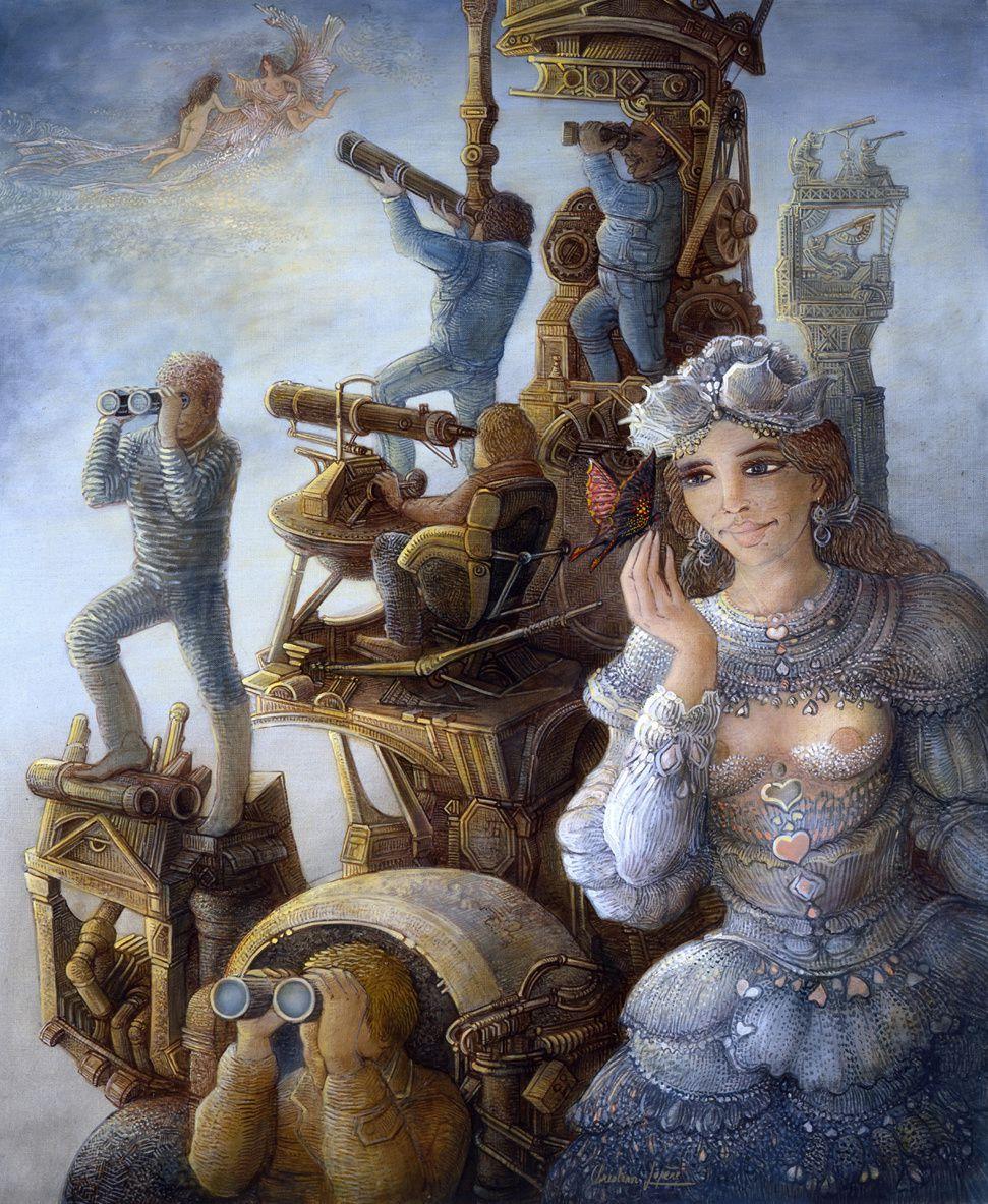"""""""Pourquoi chercher si loin"""" - huile sur toile - 65 x 54 cm - 2006"""