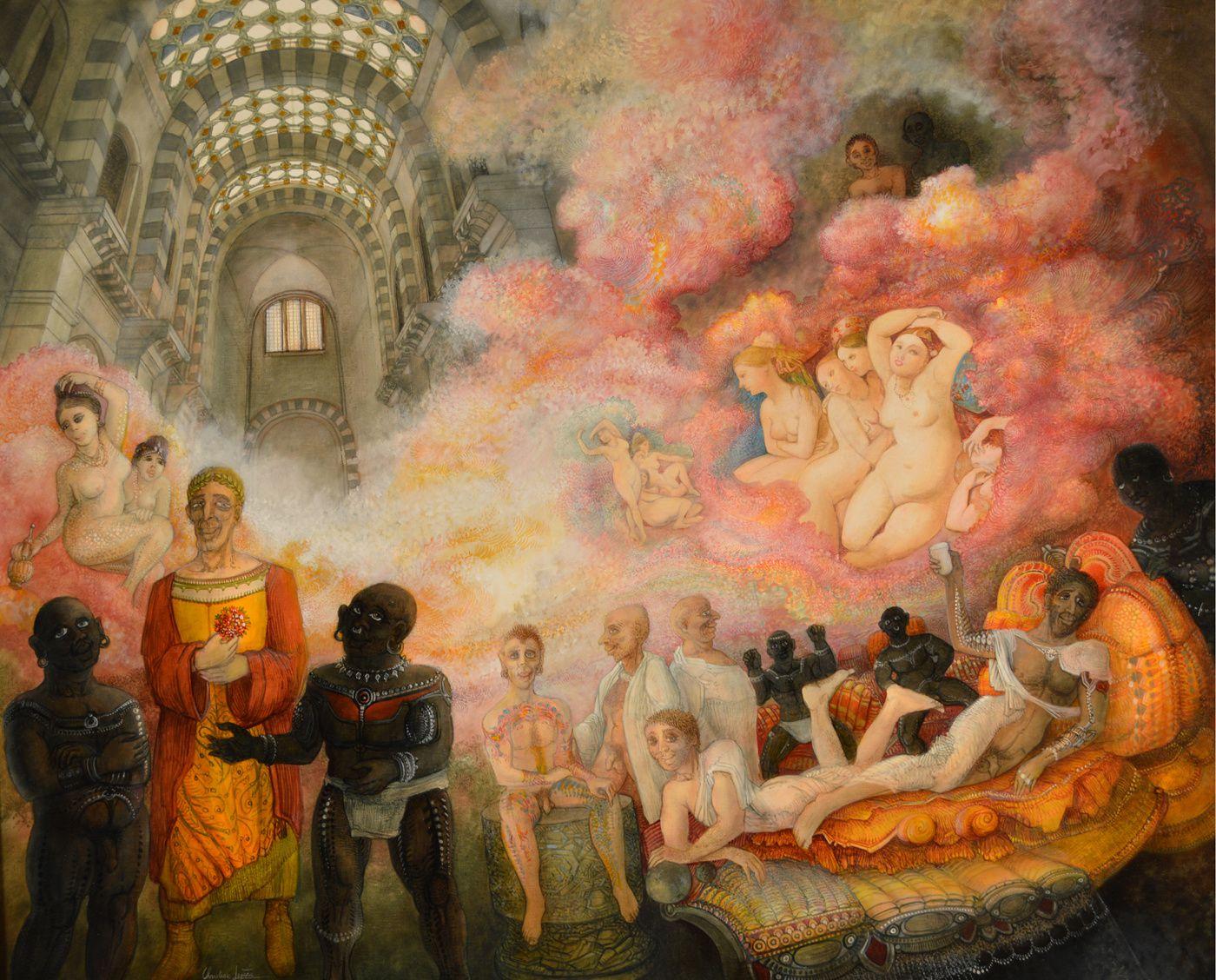 """""""Hommage à Monsieur Ingres"""" - huile sur toile - 100 x 81 cm - 2016"""
