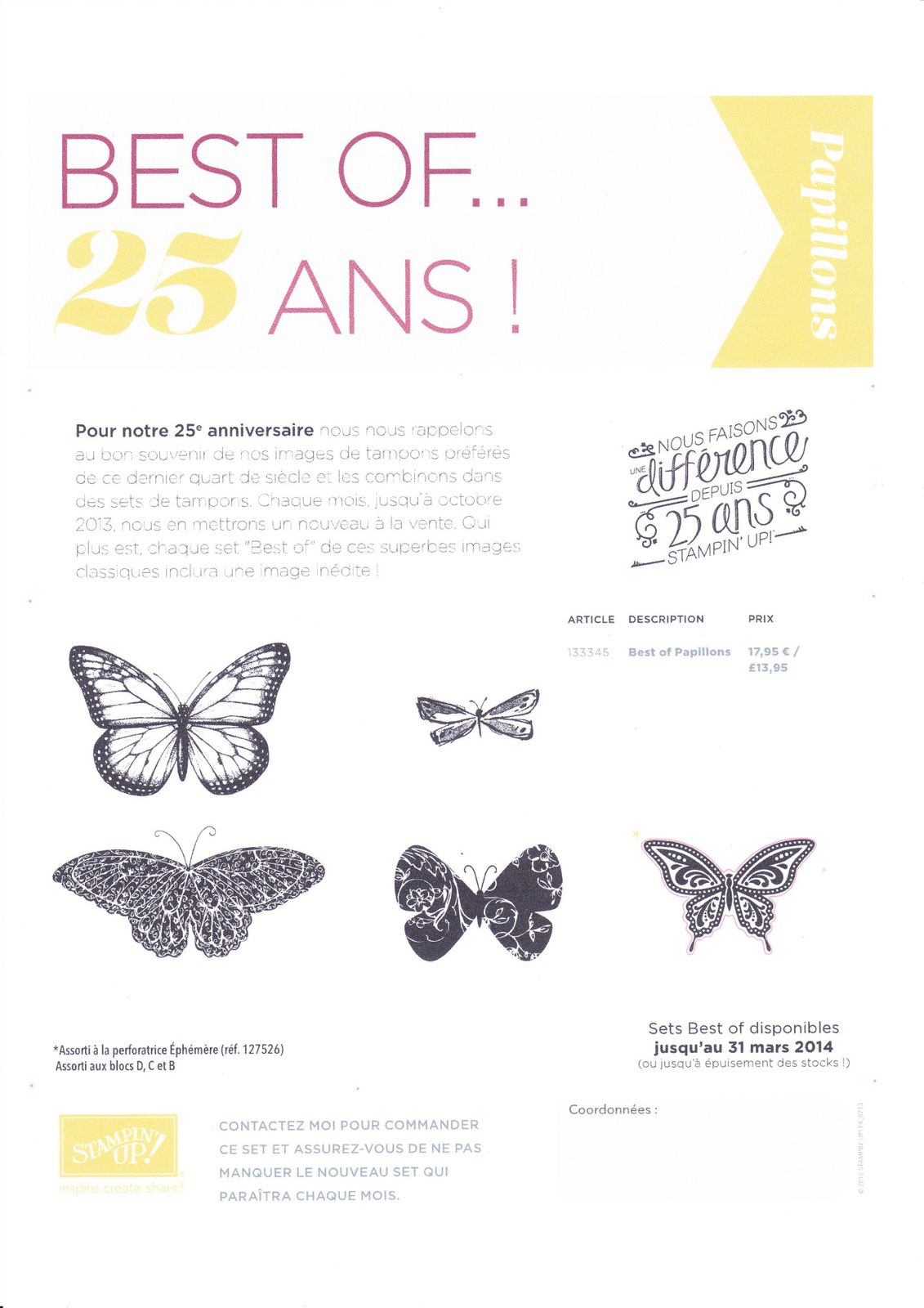 Tampons Best of... 25 ans !