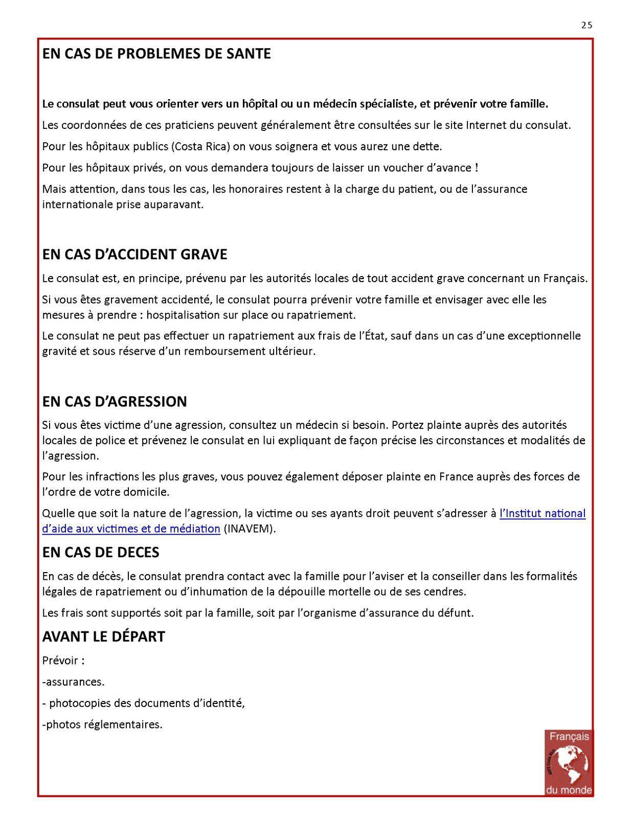 FDM-Costa Rica Accueil, 15 fiches-conseils