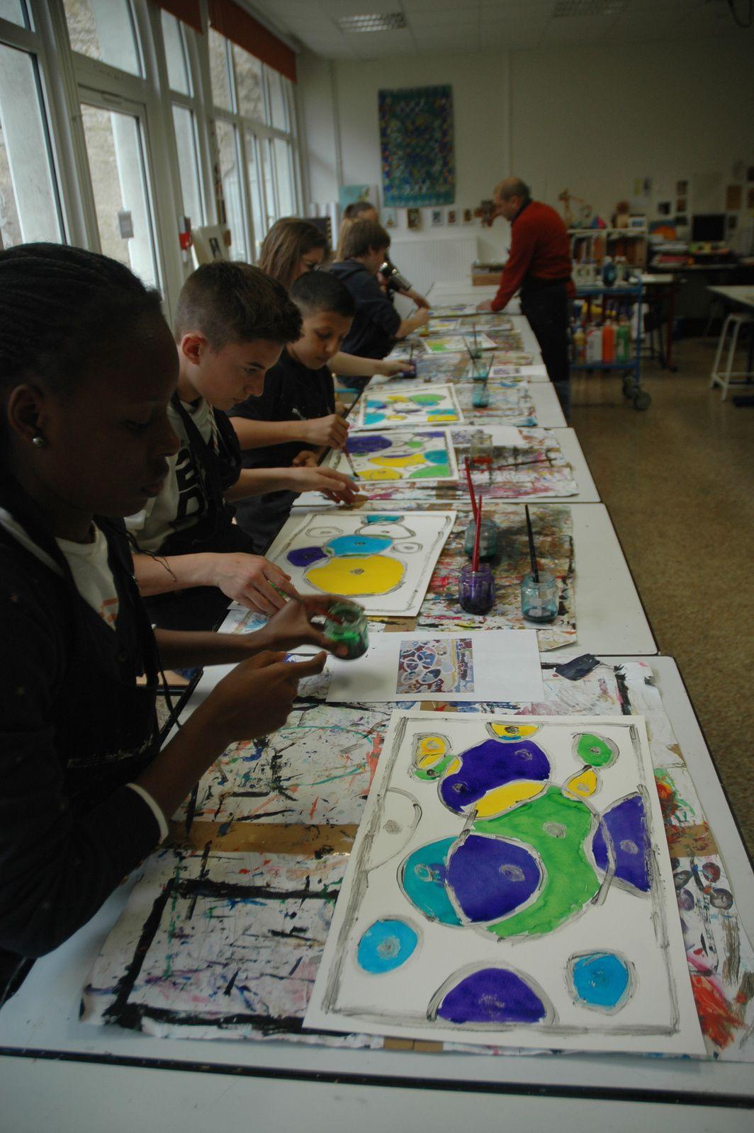 2nde séance aux Beaux Arts pour les 5èmes