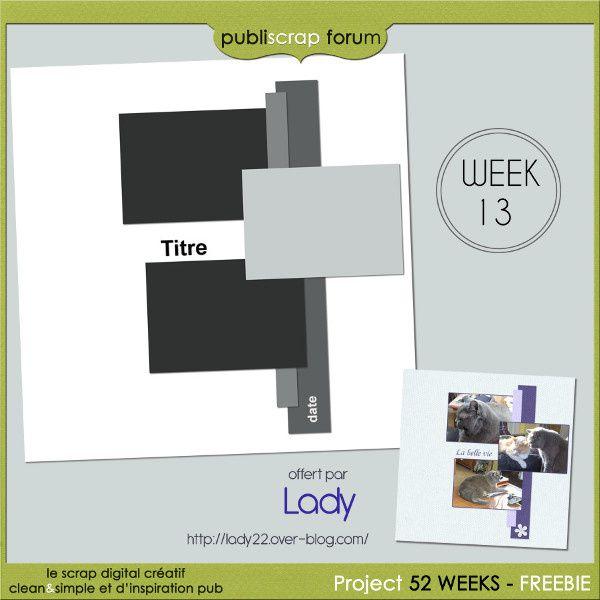 template lady  week  13