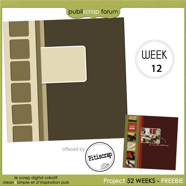template Pitiscrap week 12