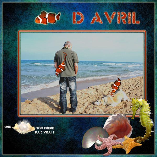 """ch mot  du mois """"Avril"""" délire  avec une photo de mon frère prise à la plage de Xeraco ,  lorsqu'il est venu pour les Fallas de Valencia"""
