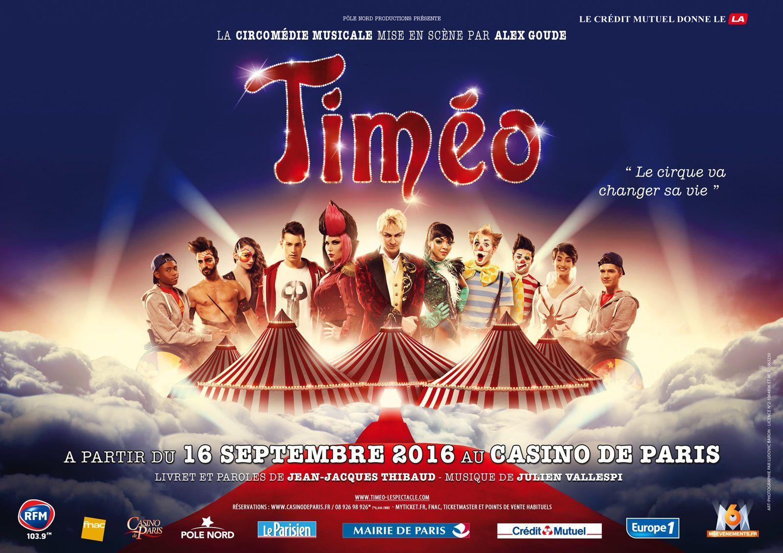 timéo, comedie, musicale, casino de paris, spectacle, enfants, famille,