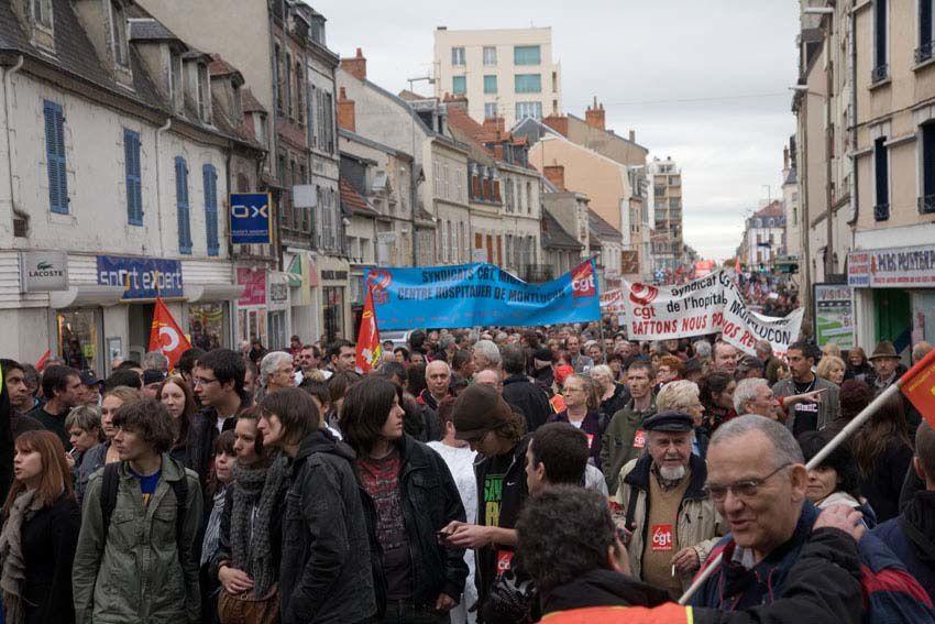 Manifestation à Montluçon le 28 octobre 2010 : 5 000 manifestants