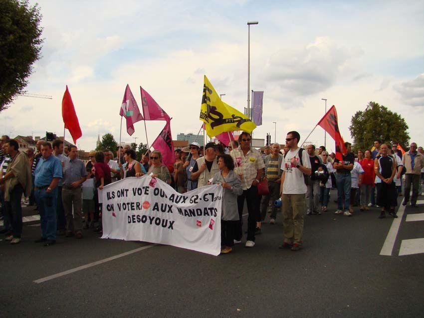 23 septembre : 6 500 manifestantEs à Montluçon, encore plus que le 7 septembre dernier