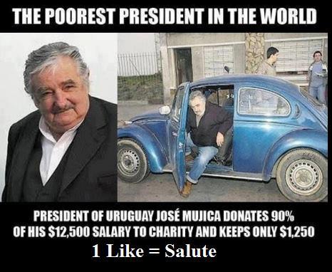 José Mujica le Président le plus pauvre de la planète