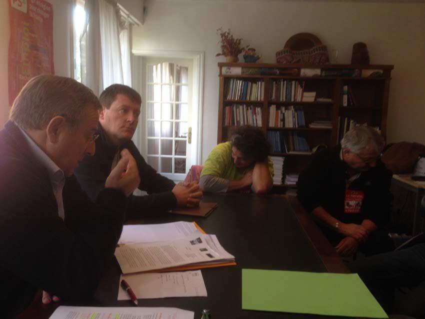 Le député a reçu une délégation de syndicalistes composée de 3 CGT et 1 SUD