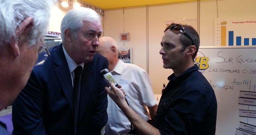 Daniel Duglery Interviewé par Jean-Marie Auclair (RMB) lors de sa visite à la foire de Montluçon en septembre dernier.