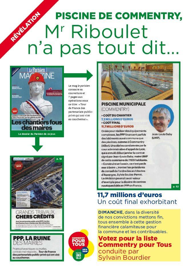 Révélation du Parisien magazine sur la piscine de Commentry