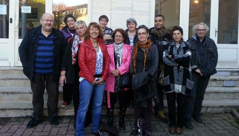 Le comité de soutien dréuni autouur de Sylvia en octobre dernier.