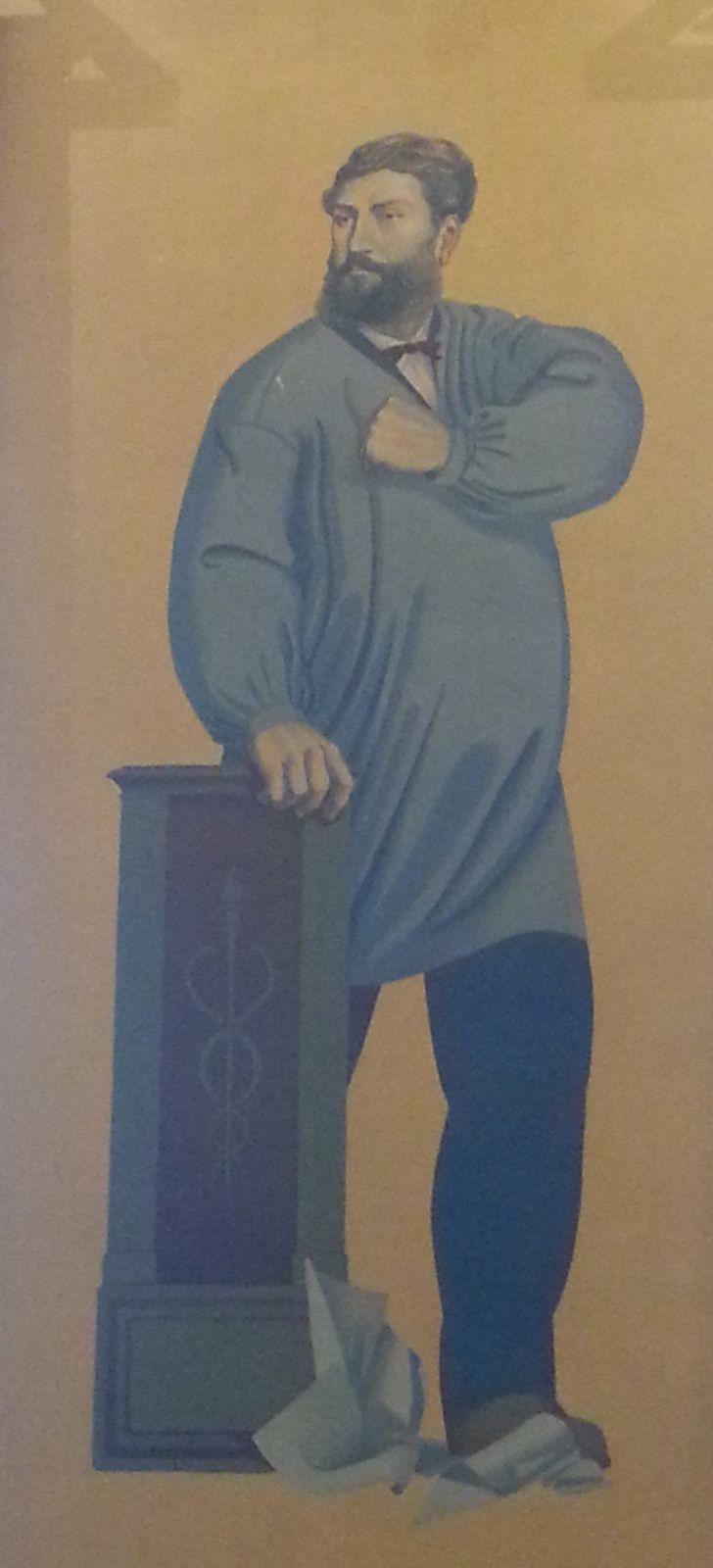 Les superbes fresques qui ornent la salle du Conseil municipal. On reconnait la représentation de Christophe Thivrier, premier Maire socialiste de Commentry et deux représentations de la vie ouvrière et paysanne.