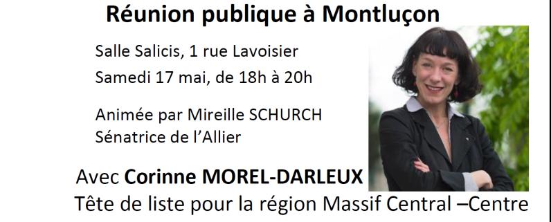 La tête de liste Front de Gauche aux européennes en meeting à Montluçon.