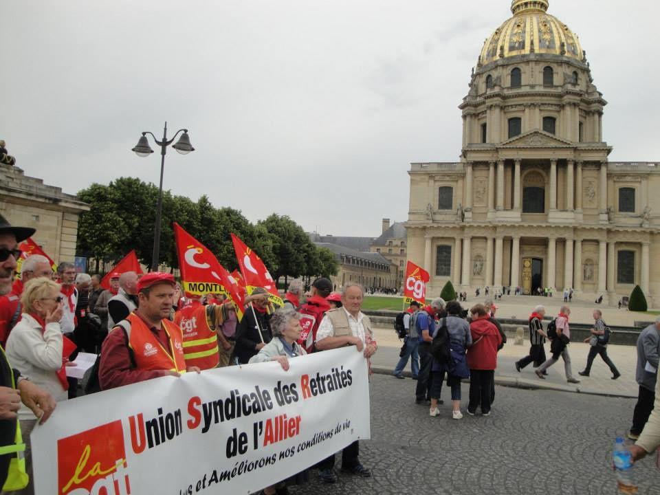 Série de ohotos publiées sur la page facebook de la CGT Allier