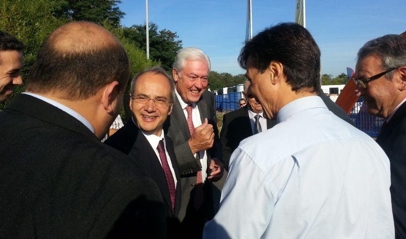 Domingos Bragança, Maire de Guimaraes au Portugal a inauguré la foire de Montluçon avec Daniel Dugléry