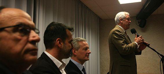A Montluçon,Bruno Le Maire fait campagne sur les fondamentaux de la droite