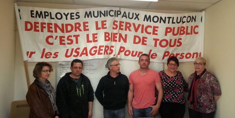 Les militants de la CGT de l'agglomération et de la Mairie de Montluçon appellent le perssonnel à manifester le 17 mars devant la cité administrative à partir de 11h 15.