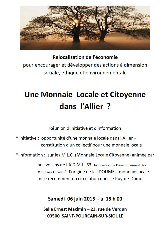 Une monnaie locale sur le département de l'Allier, est-ce possible ?