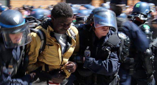 rafle contre les migrants à Paris