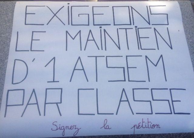 Ecoles maternelles de Commentry, les parents d'élèves continuent la lutte pour le maintien d'une ATSEM dans chaque classe