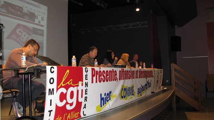 La CGT Allier en comité général à Montmarault