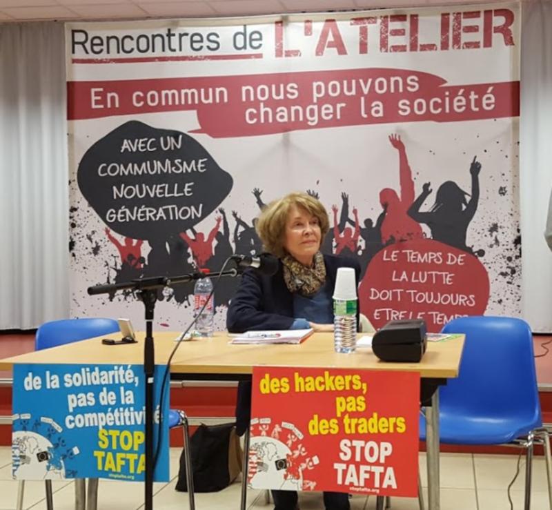 Suzan George à Montluçon pour un débat sur TAFTA