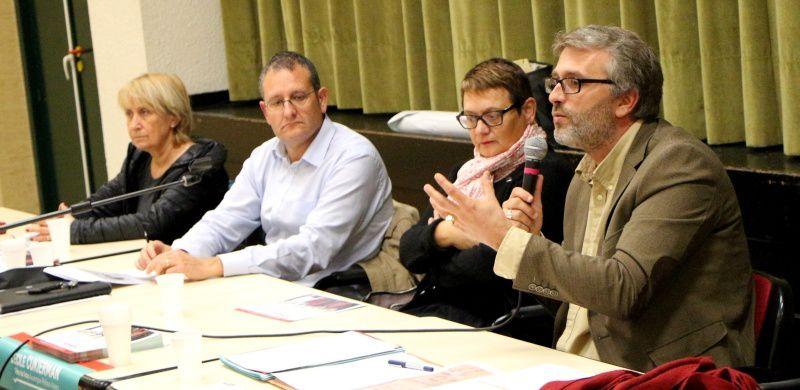 Réunion publique à Commentry de la liste emmenée par Yannick Monnet