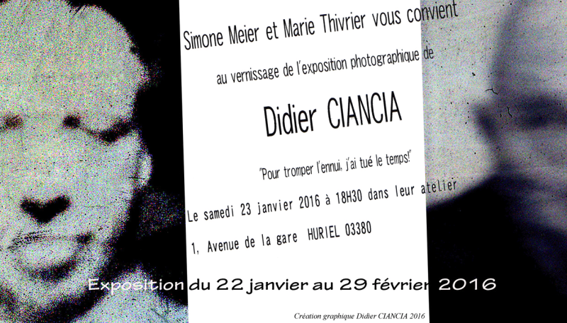 Didier Ciancia expose à Huriel