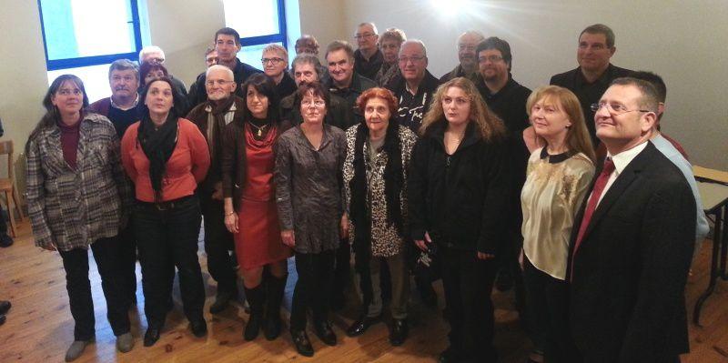 """Les militants et les sympathisants de """"Commentry pour tous (photos archive, 26 février 2014)"""