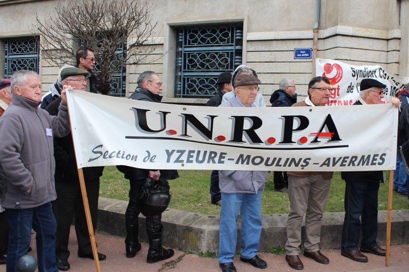 Les associations de retraités également présentes durant toute la manifestation.