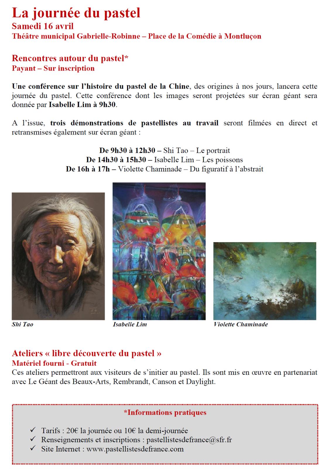 Pastel du monde 2016 :  La Chine, invitée d'honneur à Montluçon