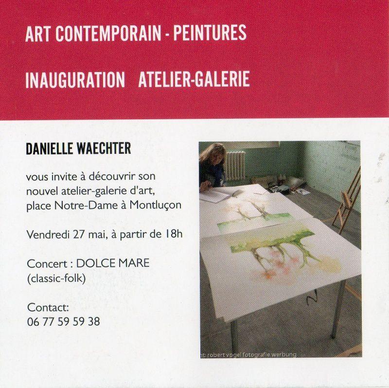 Un nouvel atelier/galerie d'art Place Notre Dame à Montluçon.