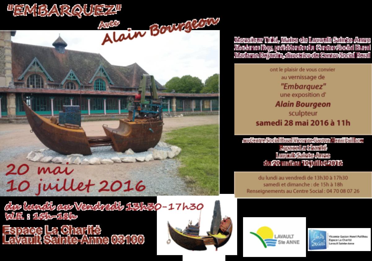 Alain Bourgeon expose à Lavault St Anne