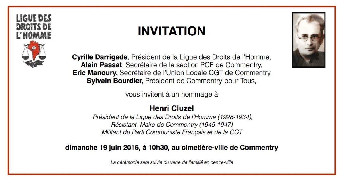 hommage à Henri Cluzel