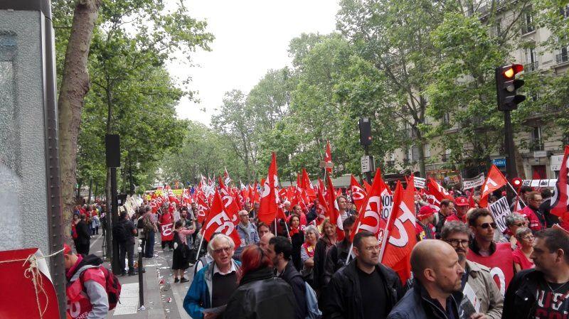 Une manifestation parisienne énorme