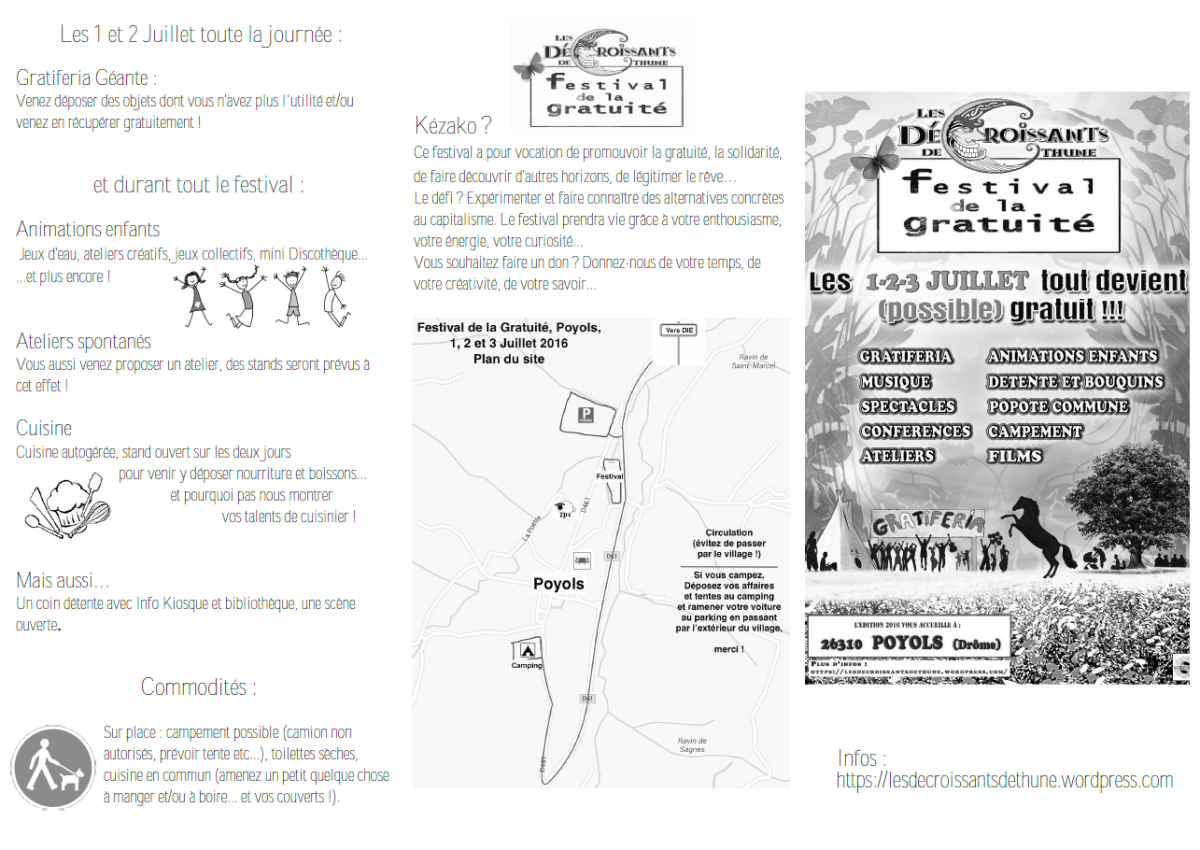 &quot&#x3B;Les décroissants de la thune&quot&#x3B; organisent leur deuxième festival de la gratuité à Poyols