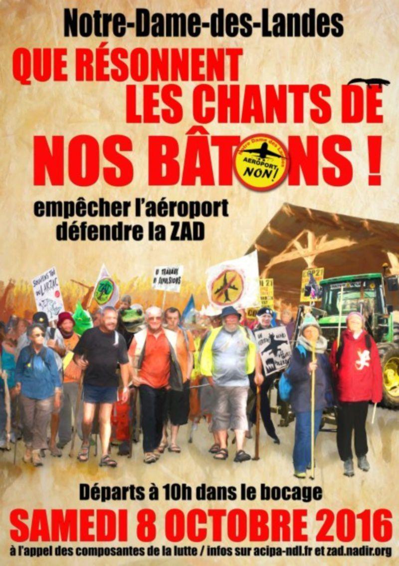 8 octobre : grande marche à Notre Dame des Landes pour défendre la ZAD