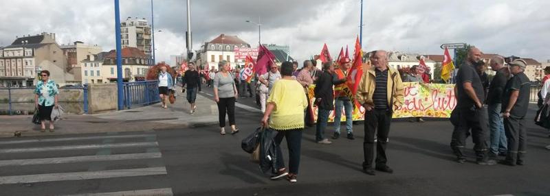 Manifestation contre la loi Travail à Montluçon, le 15 septembre 2016