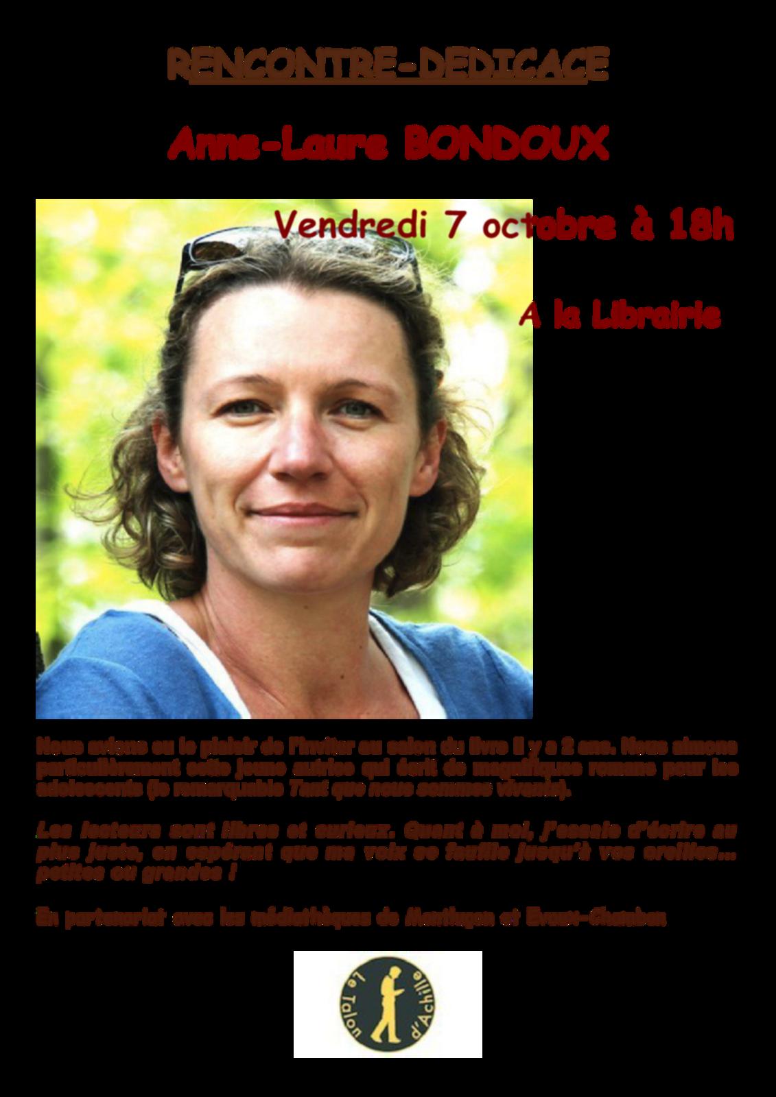 Anne-Laure Bondoux au Talon d'Achille