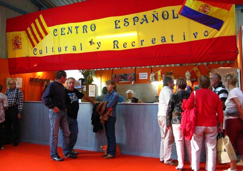 Le stand de l'association culturelle espagnole