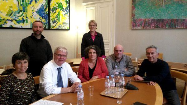 Une délégation de la CGT Allier reçue au Sénat pour évoquer le dossier d'Environnement Recycling