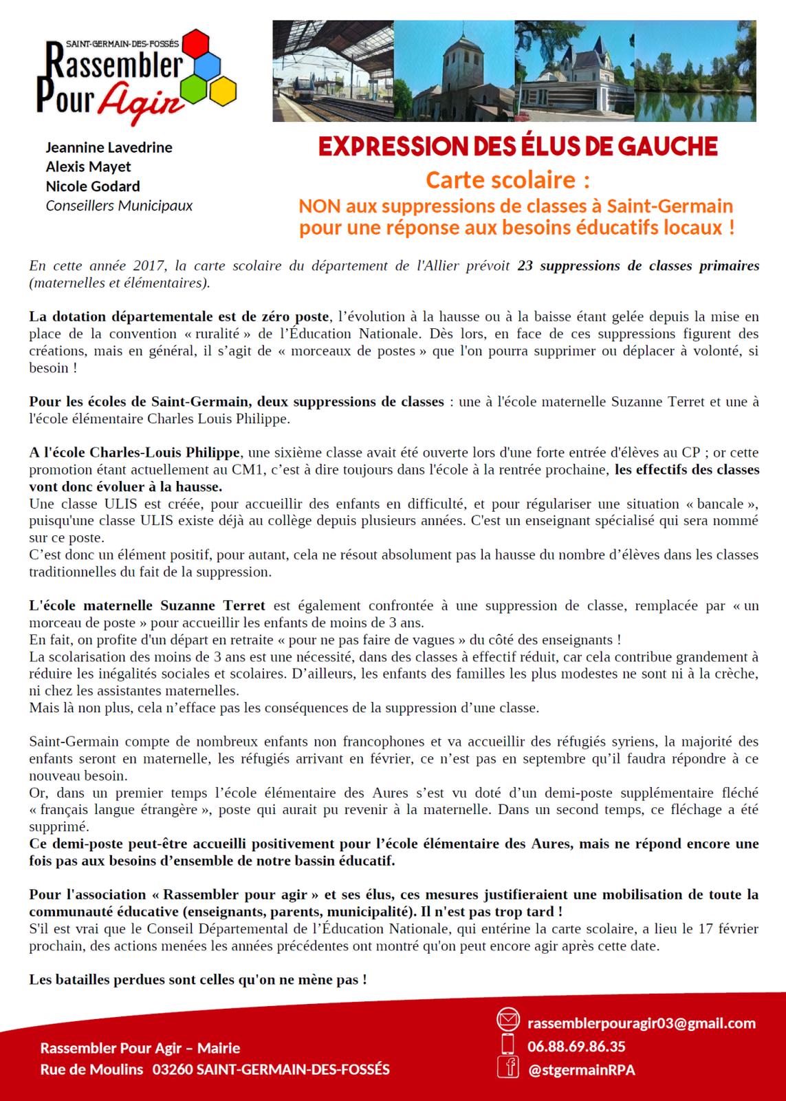 suppressions de 23 classes dans l'Allier : les premières réactions