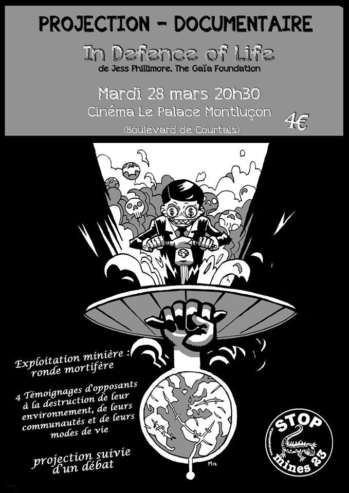 Projection d'un documentaire sur les opposants des mines en Creuse