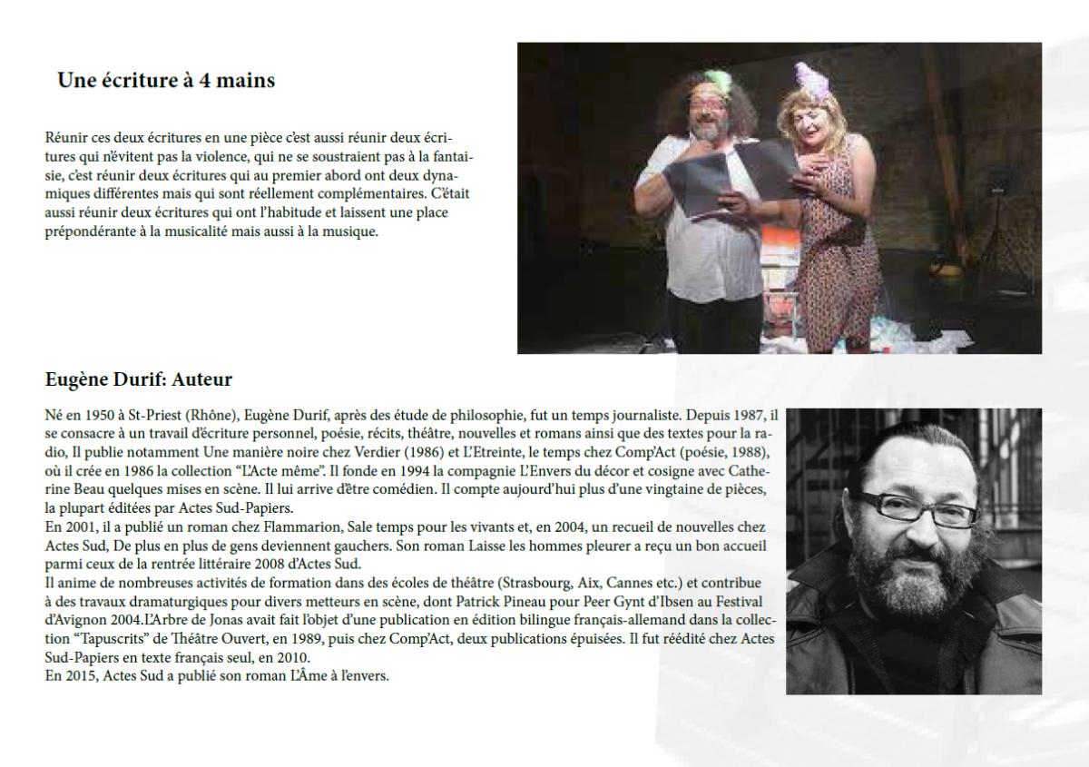 La compagnie &quot&#x3B;Attrape-sourire&quot&#x3B; en représentation à Domérat
