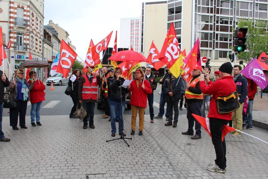 Prise de parole des syndicats