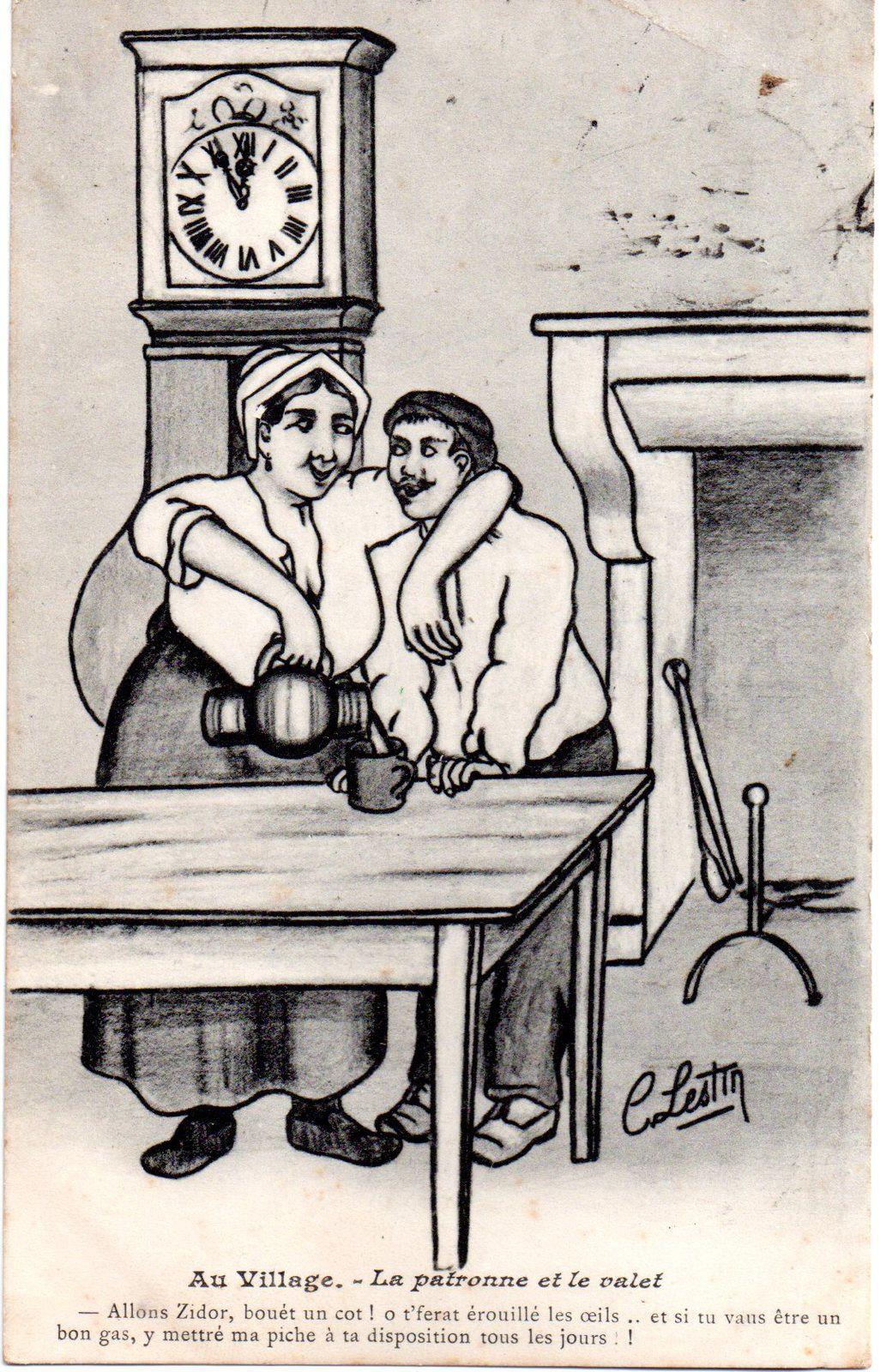 Humour : cartes postales anciennes, C.Lestin