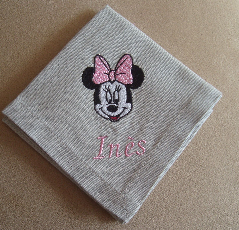 Broderie machine, serviettes de table enfants