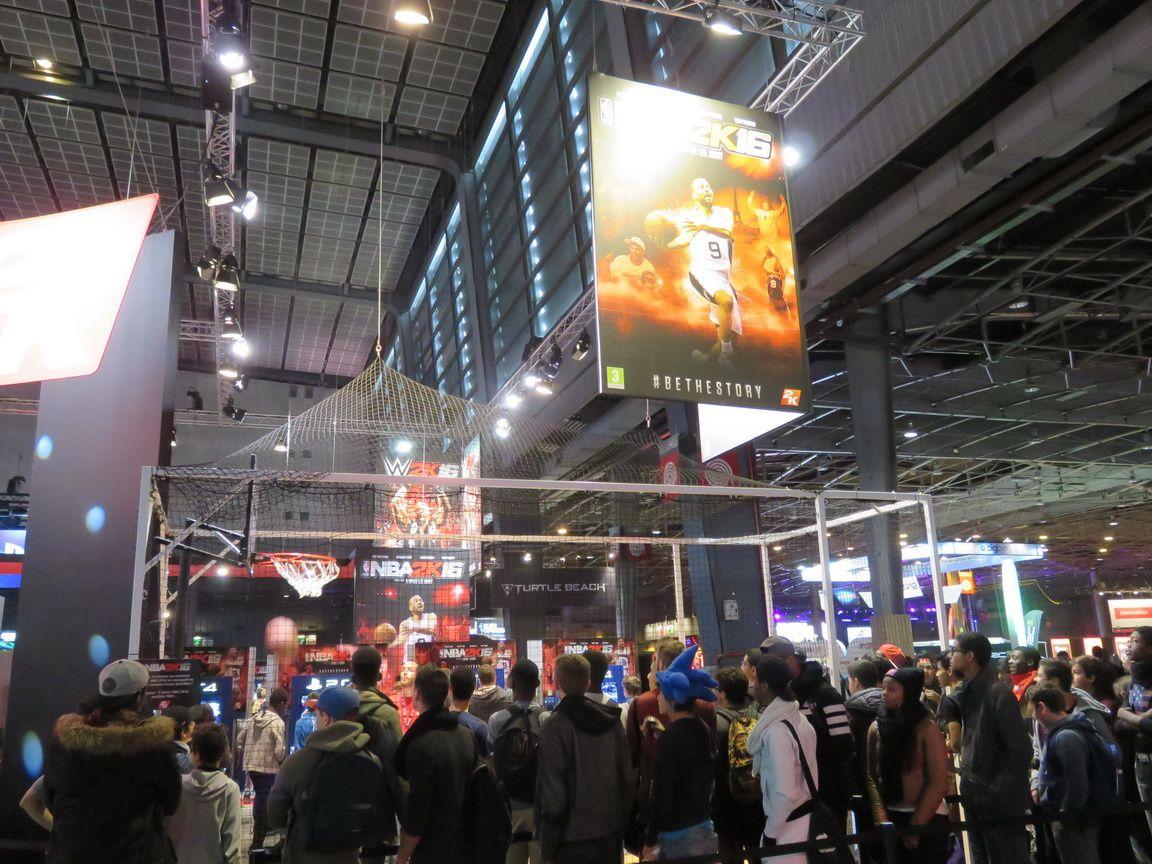 paris games week 2015 le stand 2k et ses jeux le blog